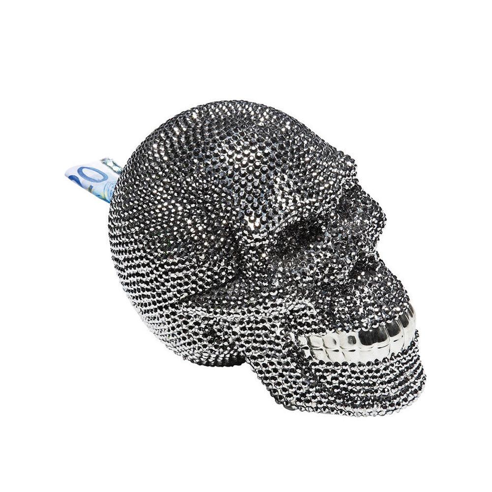 【在庫切れ】Money Box Skull Crystal Silver