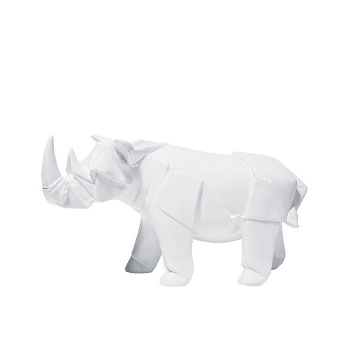 Deco Figurine Origami Rhino