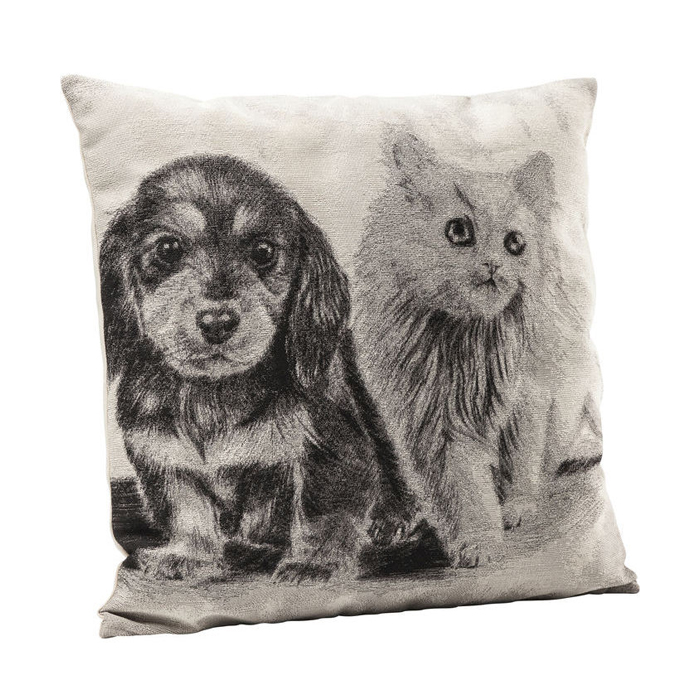 Cushion Little Cat and Dog 45x45cm