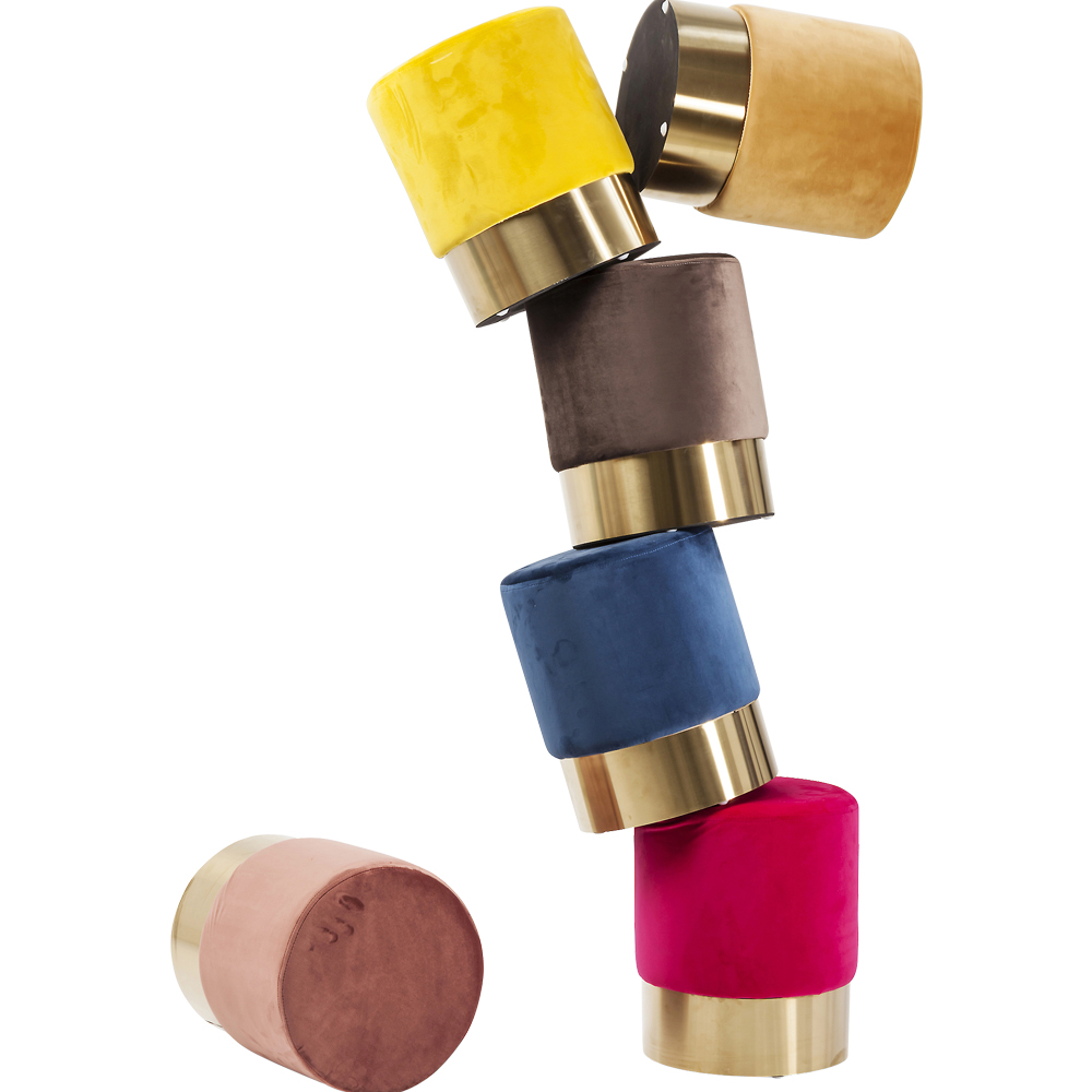 【入荷待ち商品】Stool Cherry Mauve Brass  Ø35cm