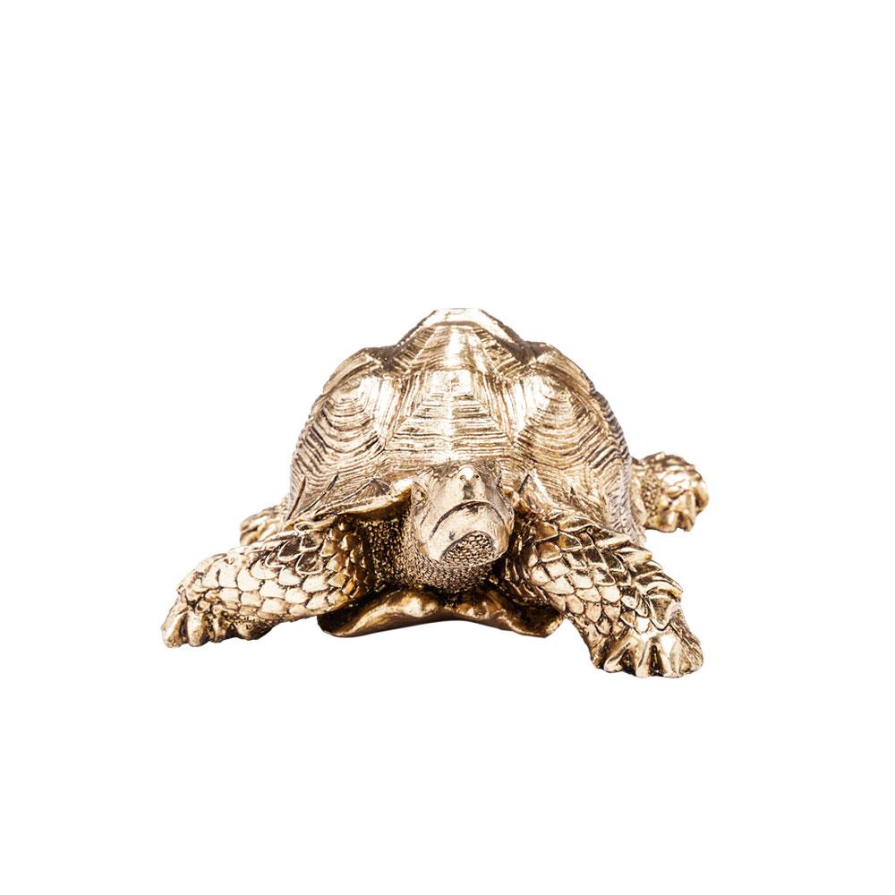 【在庫切れ】Deco Figurine Turtle Gold Small