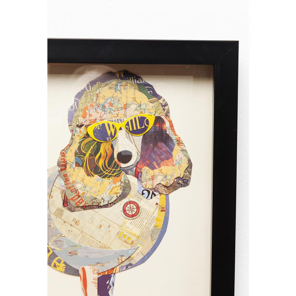 Picture Frame Art Poodle 41x41cm