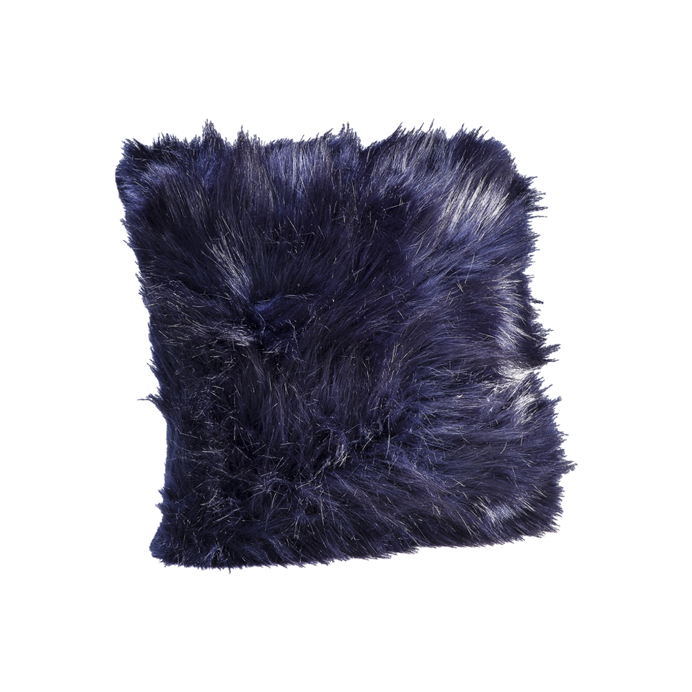 【在庫なし】Cushion Ontario Fur Dark Blue 45x45cm