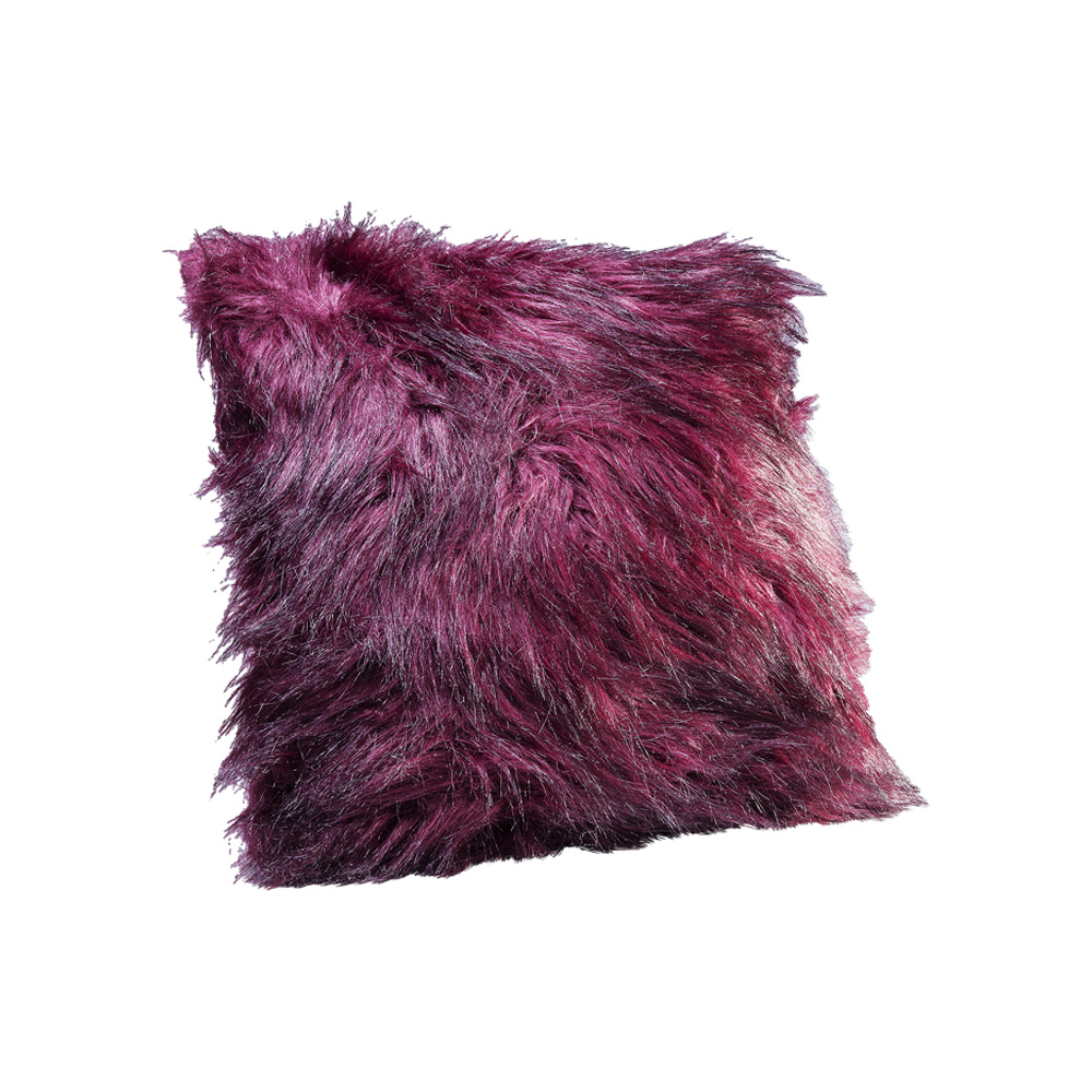 【在庫切れ】Cushion Ontario Fur Dark Red 45x45cm