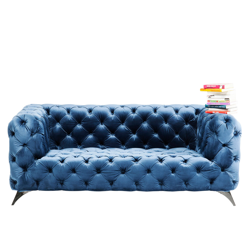 Sofa Look 180cm Velvet Blue
