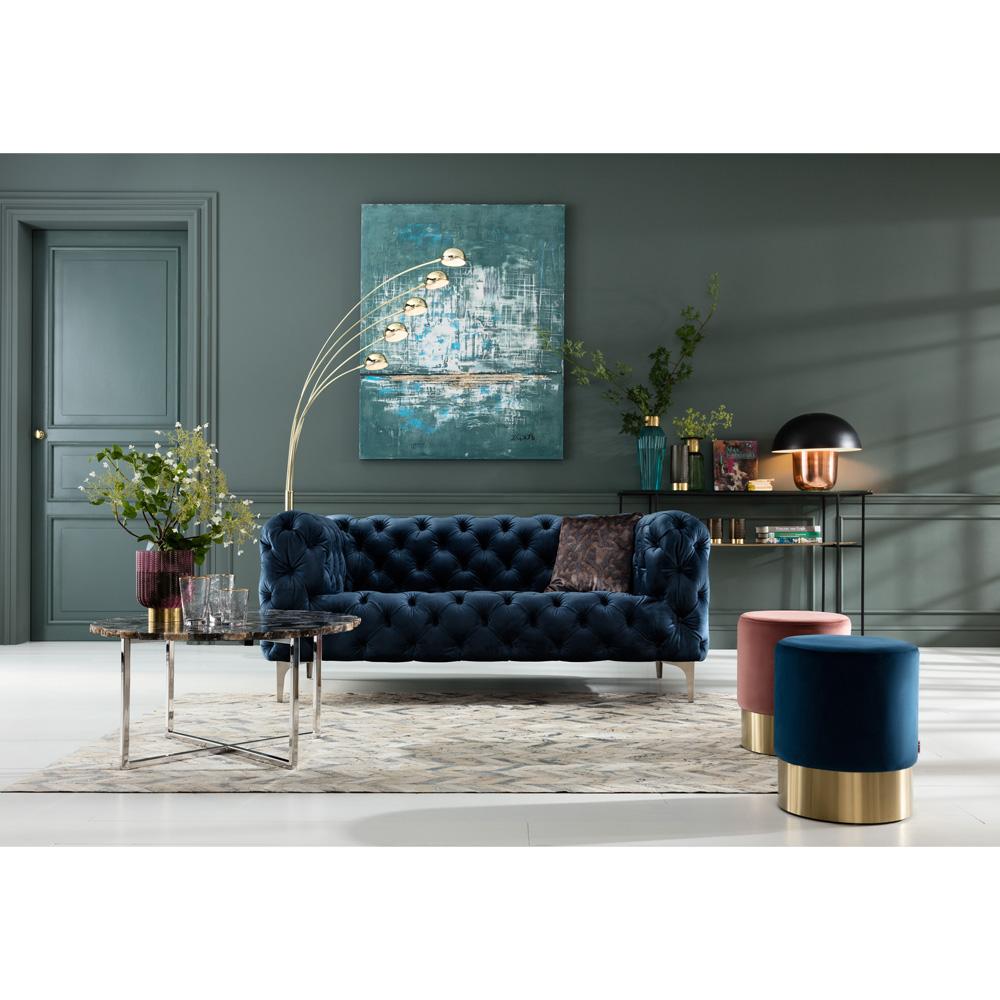 Coffee Table Tesoro Blue Ø80cm
