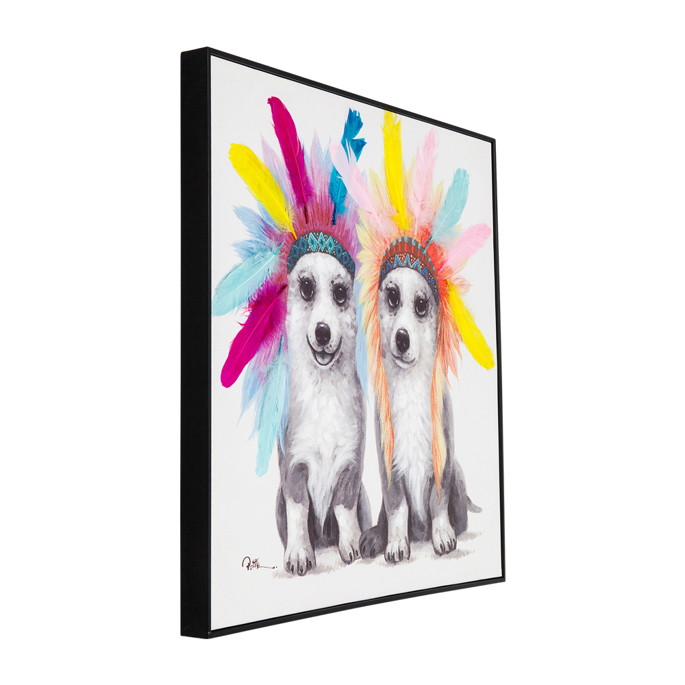 Picture Touched Chief Dogs 70x70cm