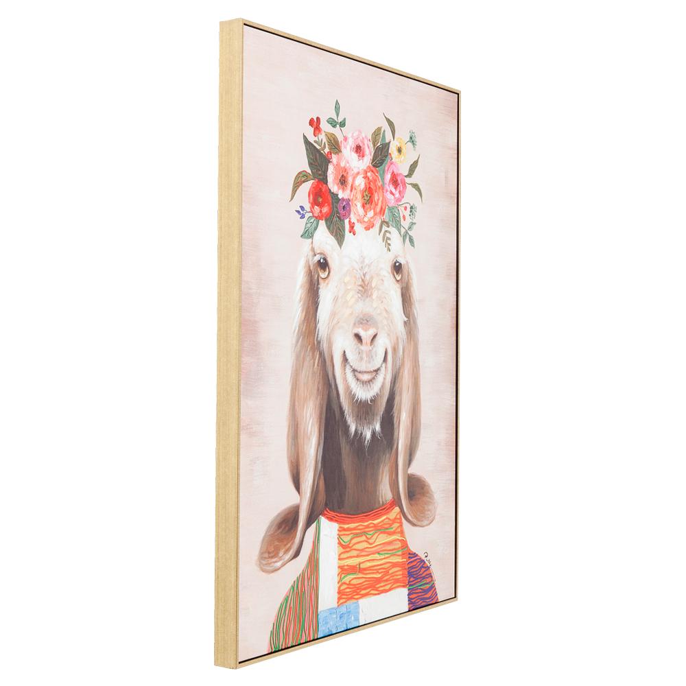 【入荷待ち商品】Picture Touched Flowers Goat 102x72cm