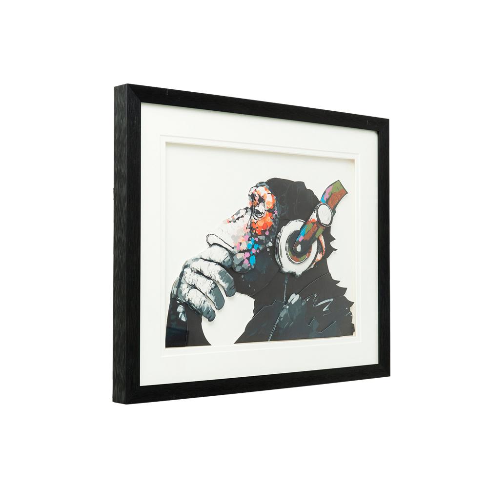 Picture Frame Art Monkey Musik 60x50cm