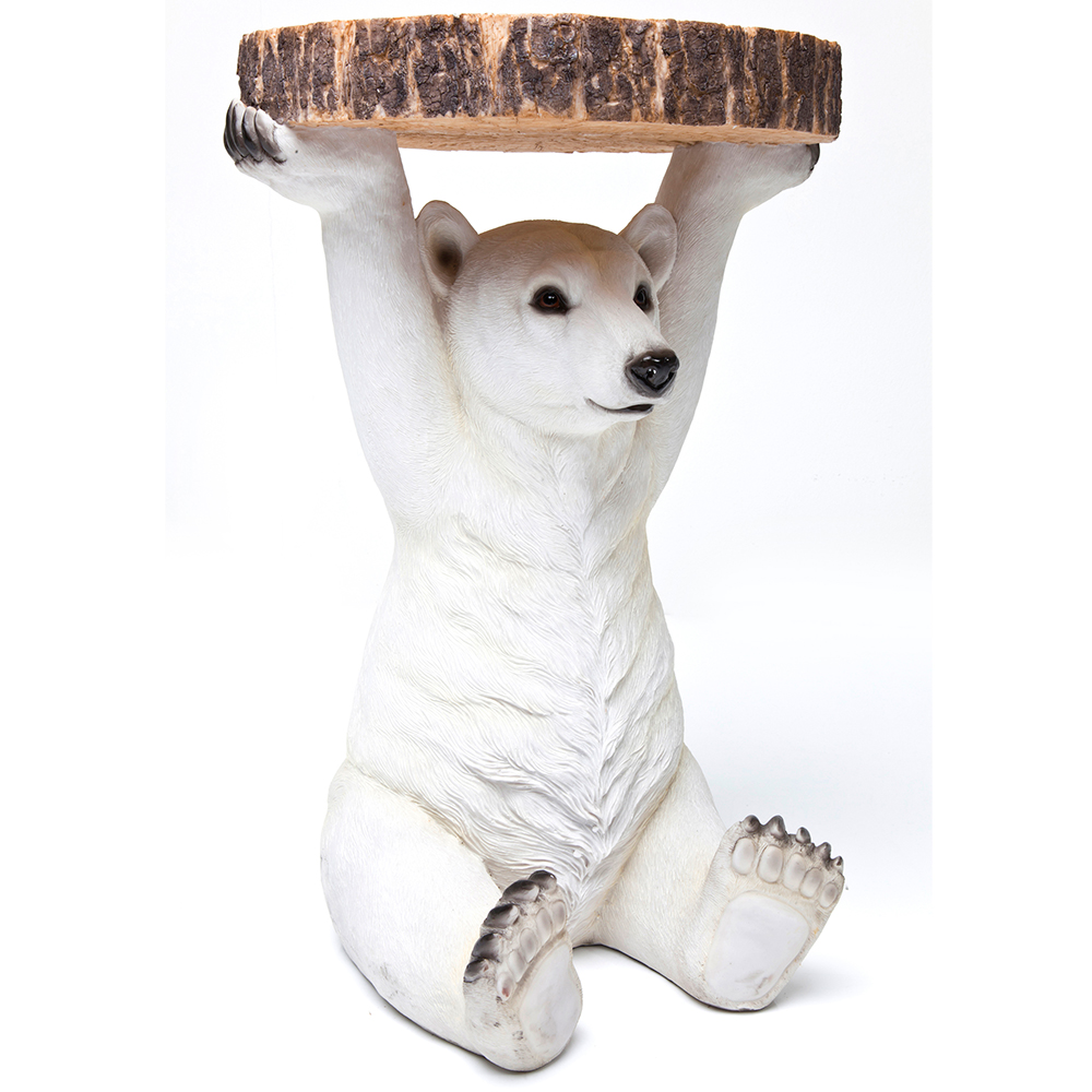 【入荷待ち商品】Side Table Animal Polar Bear Ø37cm