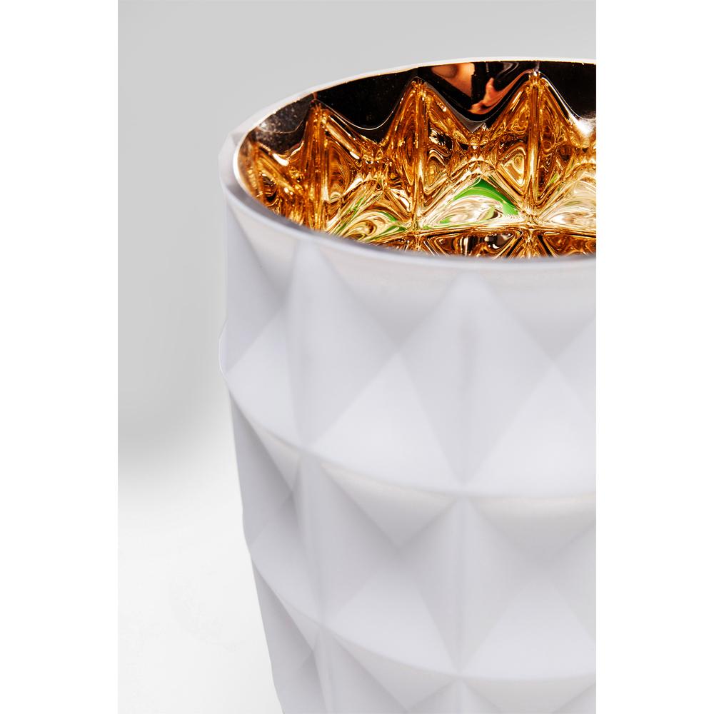 Vase Precious Triangle White 25cm