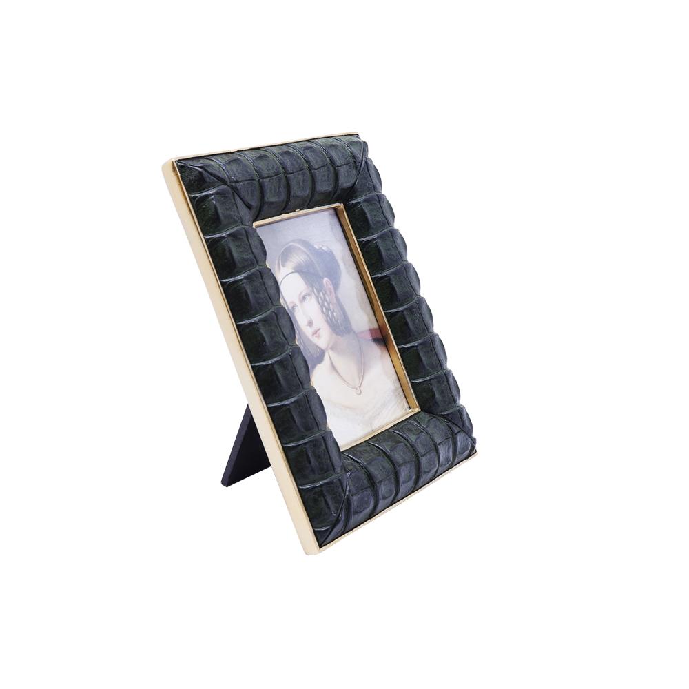Frame Croco Green 10x15cm