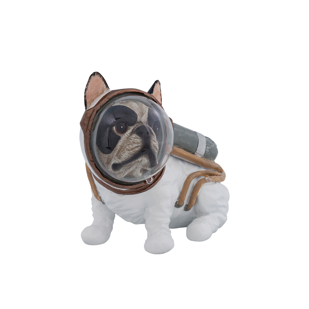 Deco Figurine Space Dog Sitting 18cm