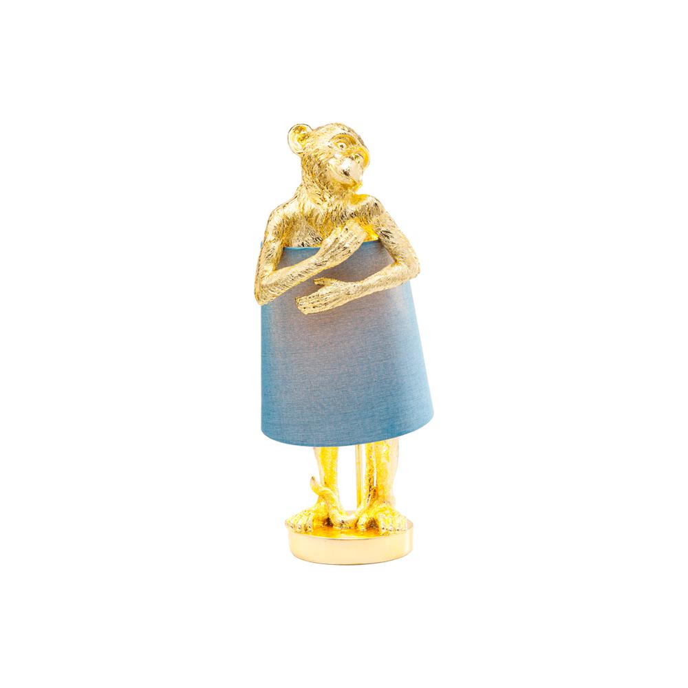 アニマルモンキー ゴールドブルー テーブルランプ
