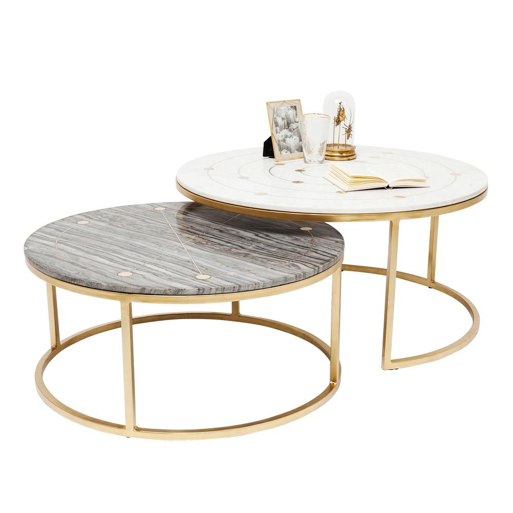 ミスティックラウンド (2/Set) O90cm サイドテーブル