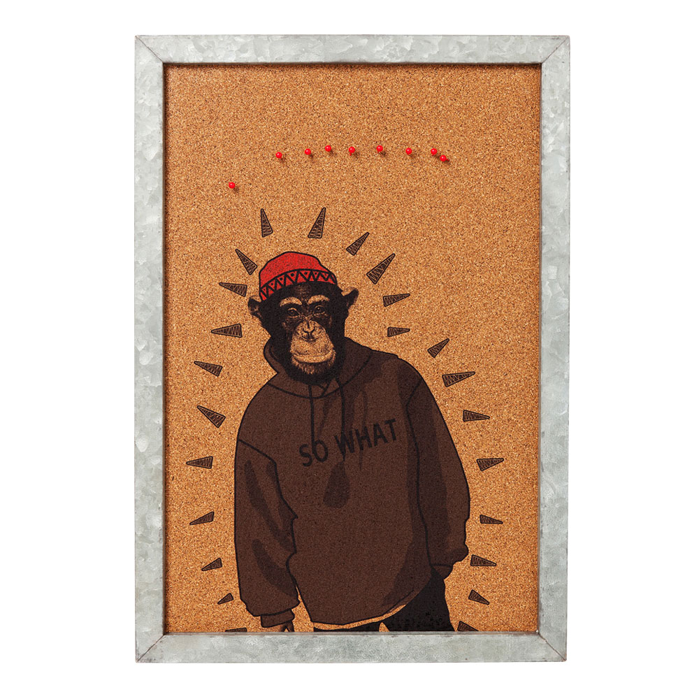 Pin Board Gangster Monkey