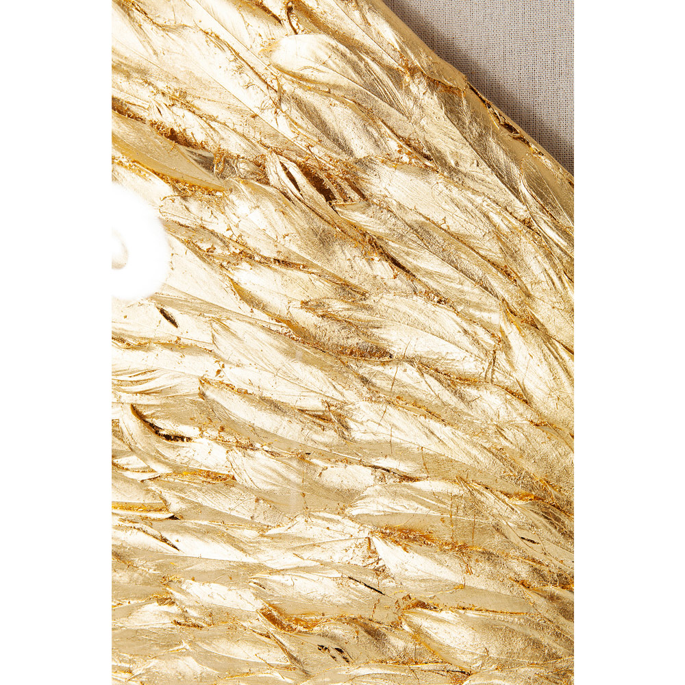 Wall Decoration Wings Gold White 120x120cm