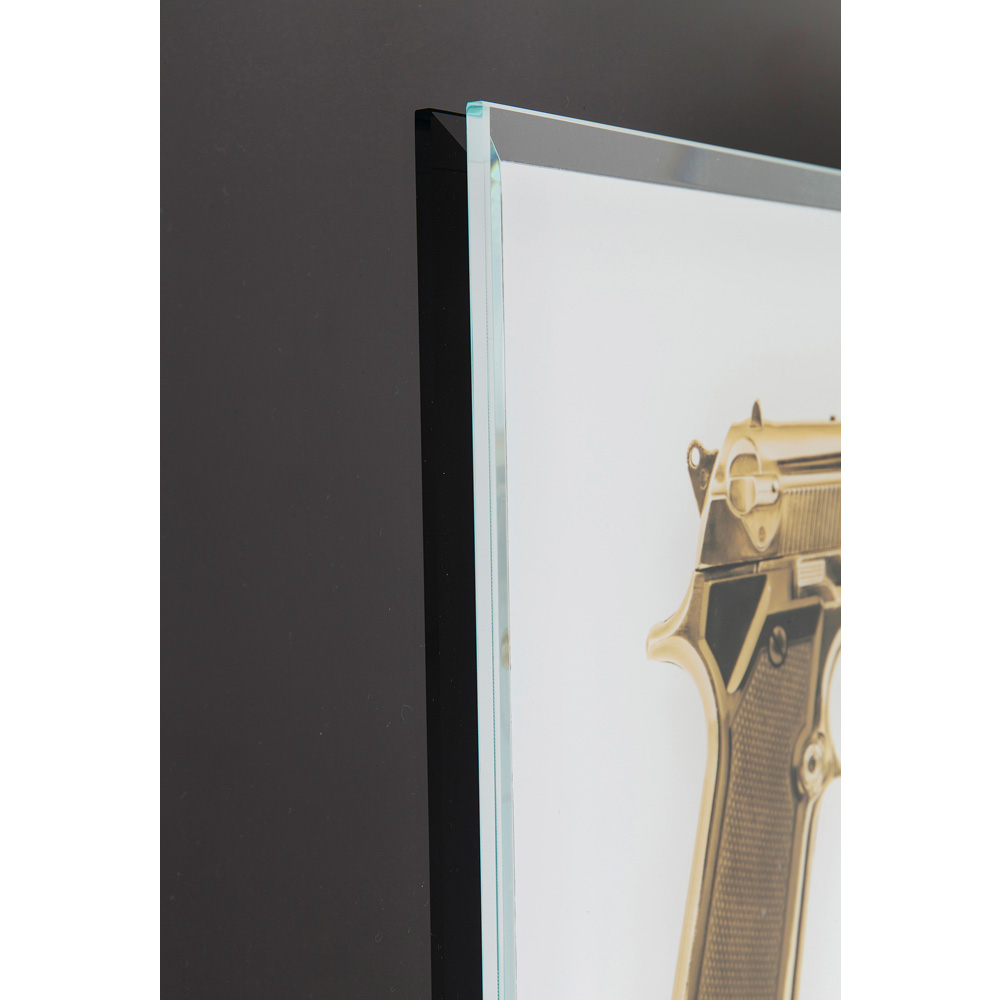 Picture Frame Mirror Gun Gold 80x60cm
