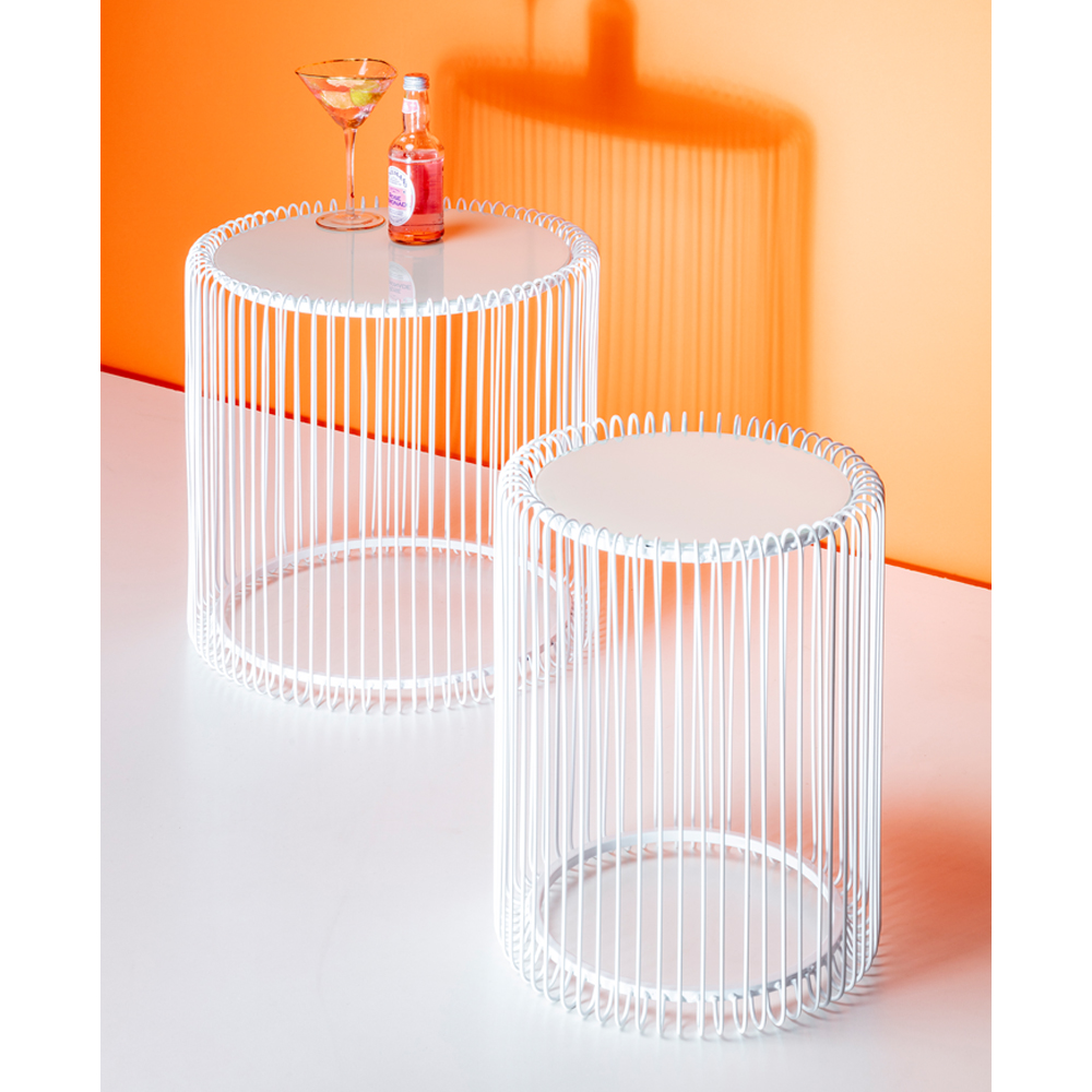 Side Table Wire White (2/Set)