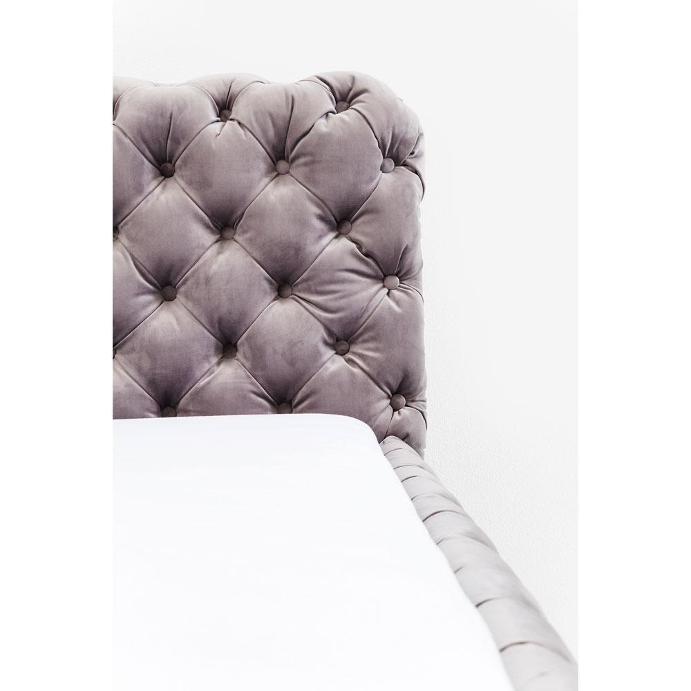Bed Desire Velvet Silver Grey 160x200 cm