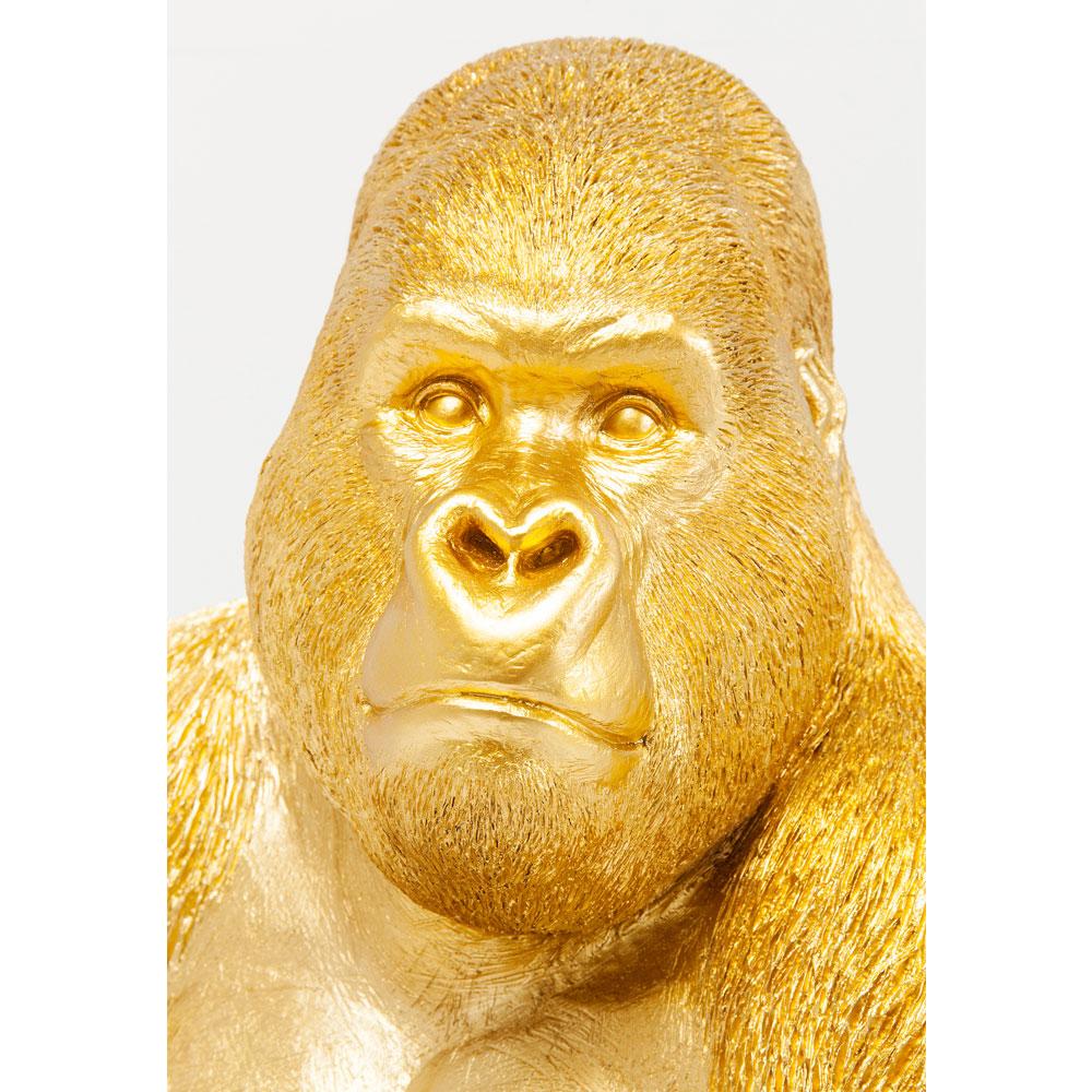 Deco Figurine Monkey Gorilla Side Medium Gold