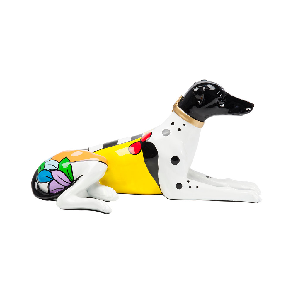 Deco Figurine Dog Colore 57cm