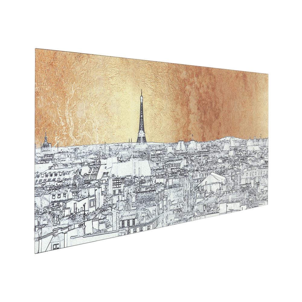 【廃番】Picture Glass Metallic Paris View 50x120cm