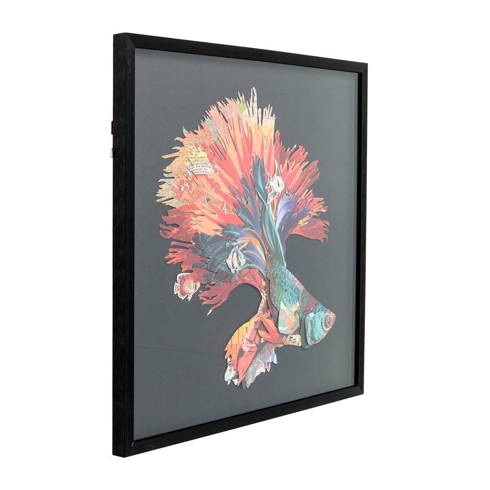 ベタフィッシュ ライトカラー 65x65cm ピクチャーフレームアート