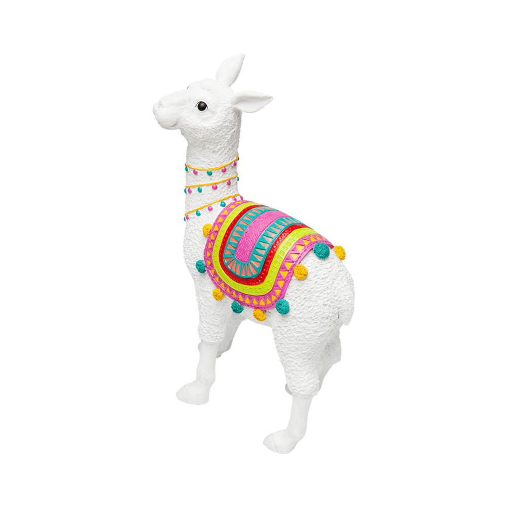 Deco Object Alpaca White 51cm