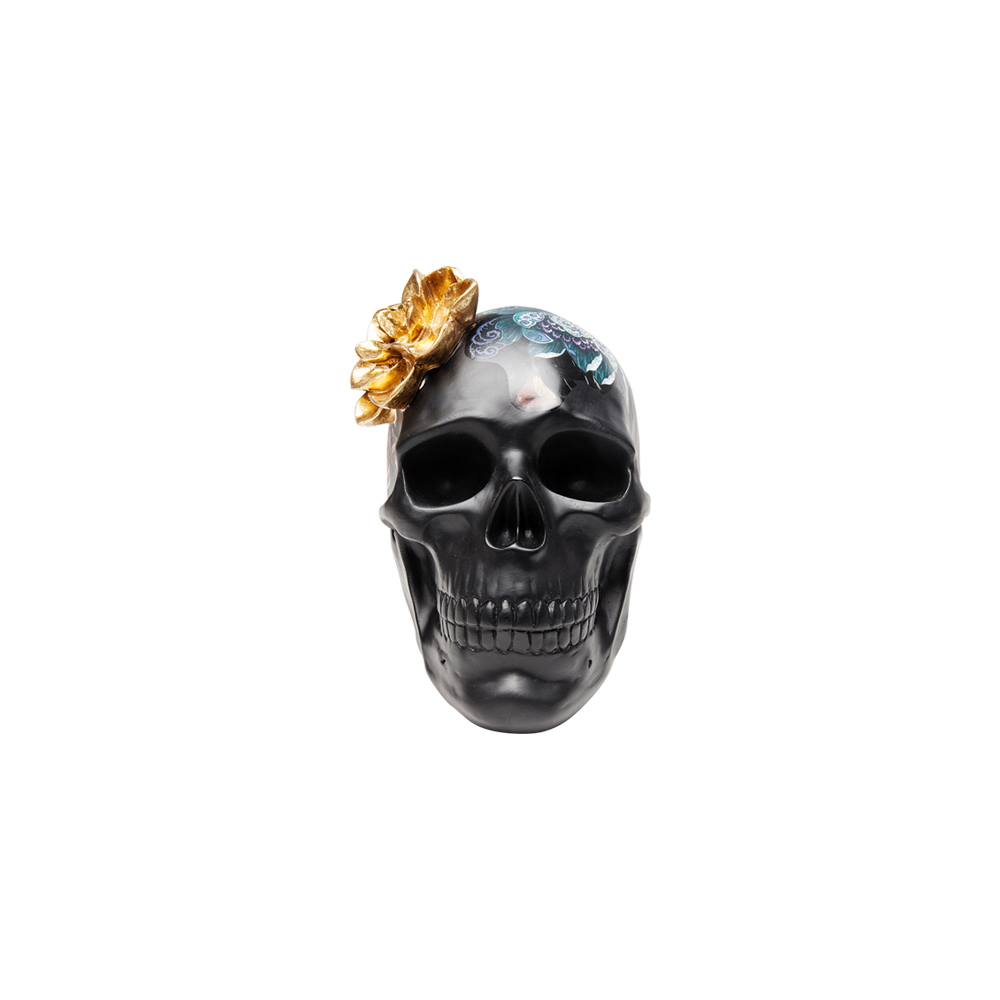 Deco Object Flower Skull 22cm