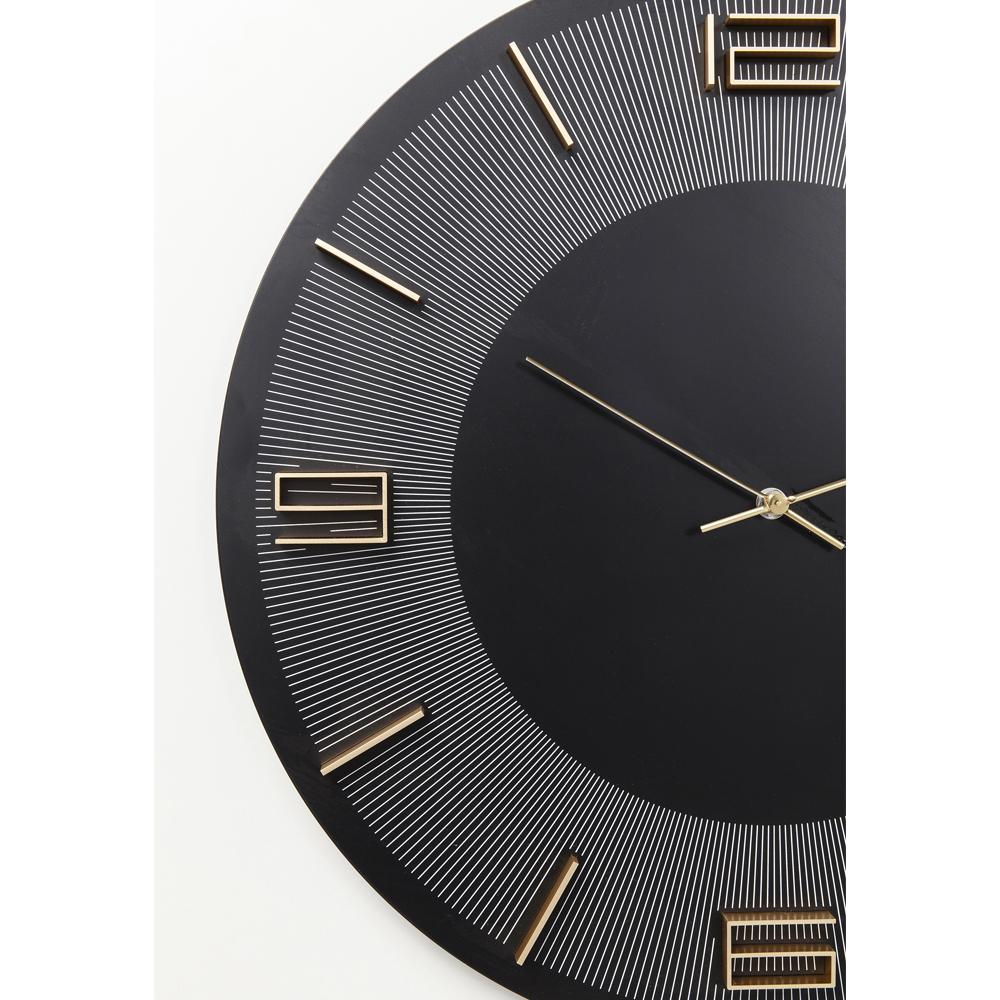 Wall Clock Leonardo Black/Gold