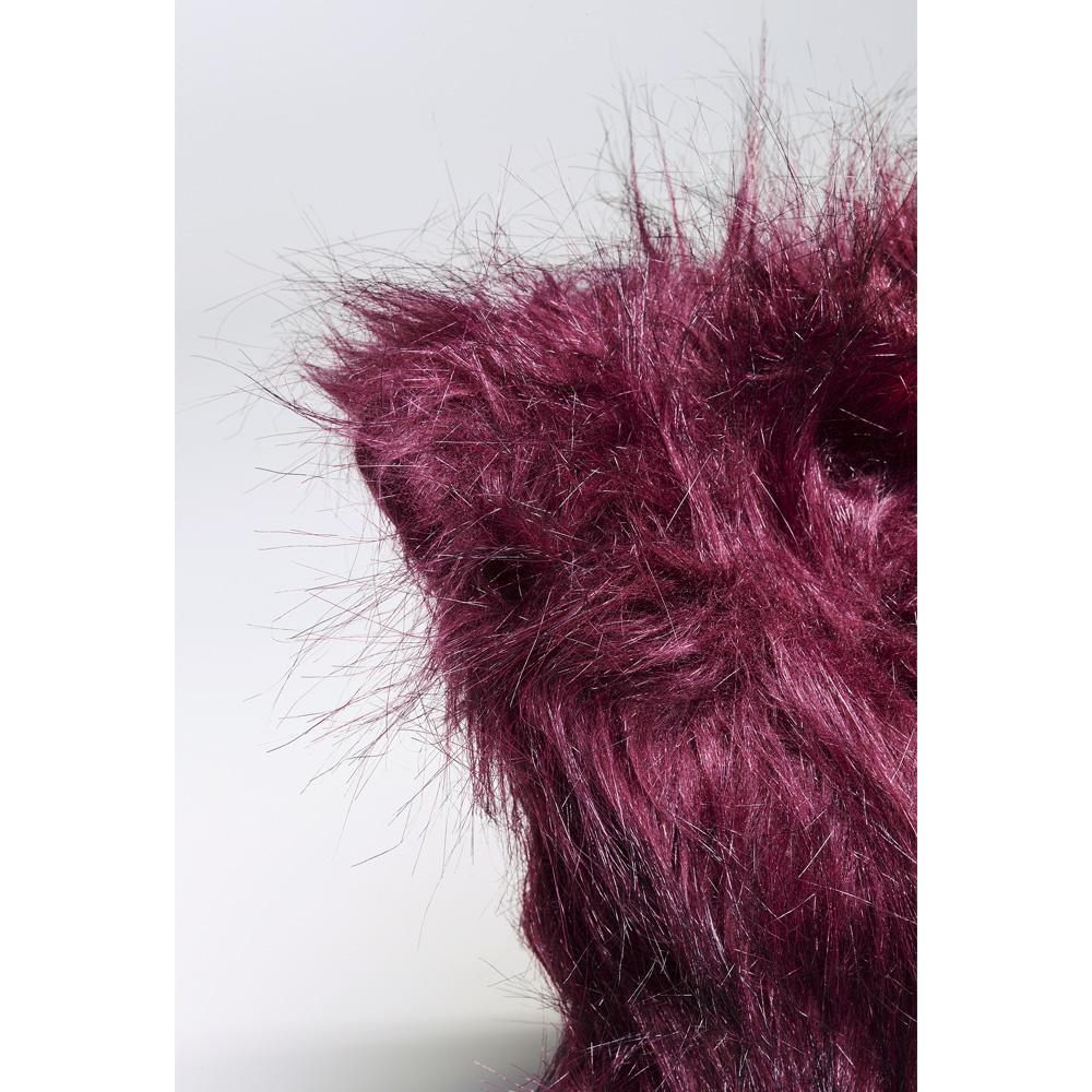 Cushion Ontario Fur Dark Red 45x45cm