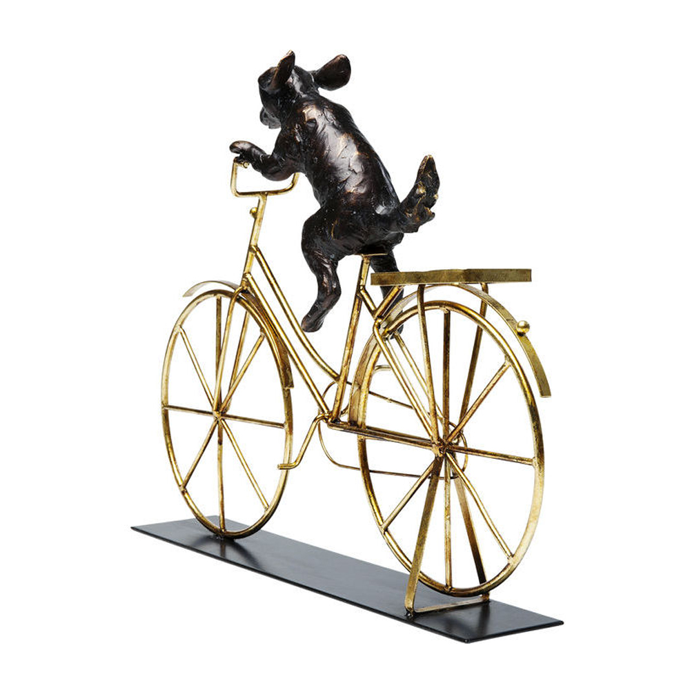 Deco Object Dog With Bicycle