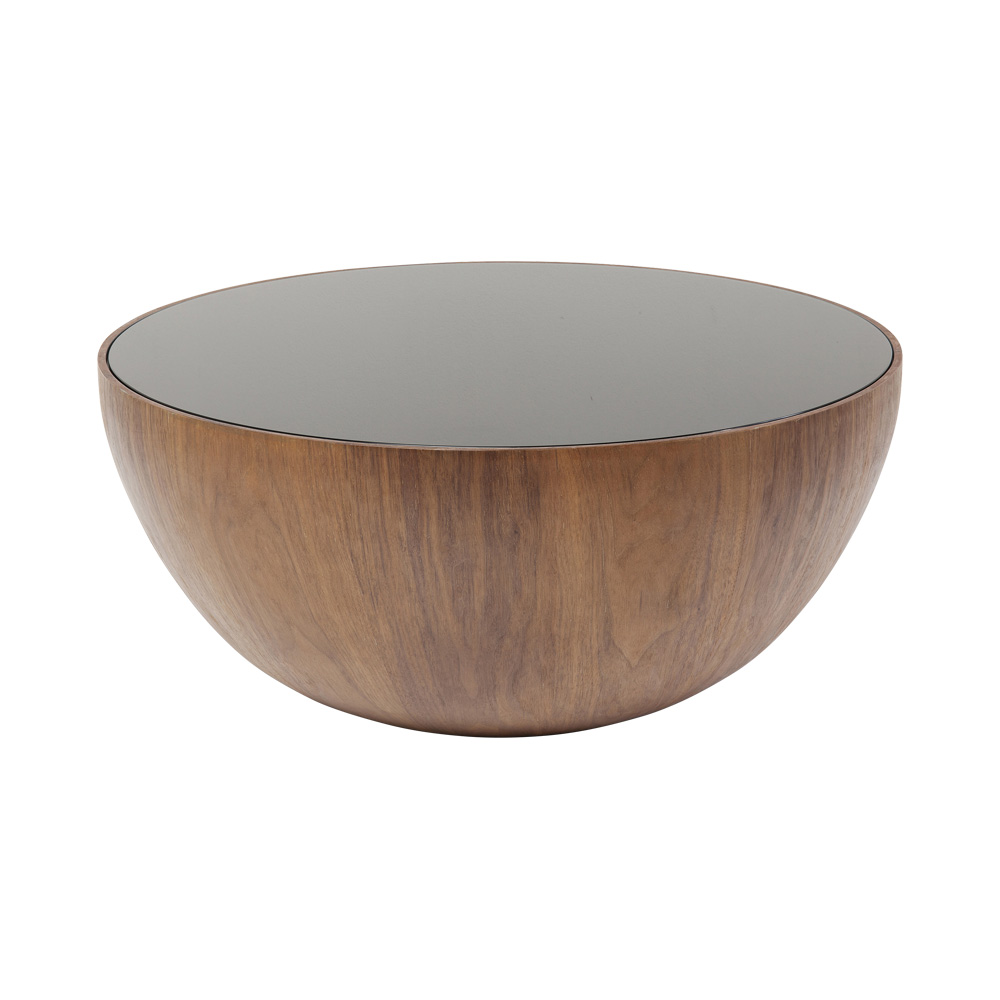 ティアドロップウォルナット Ø80cm ローテーブル/コーヒーテーブル