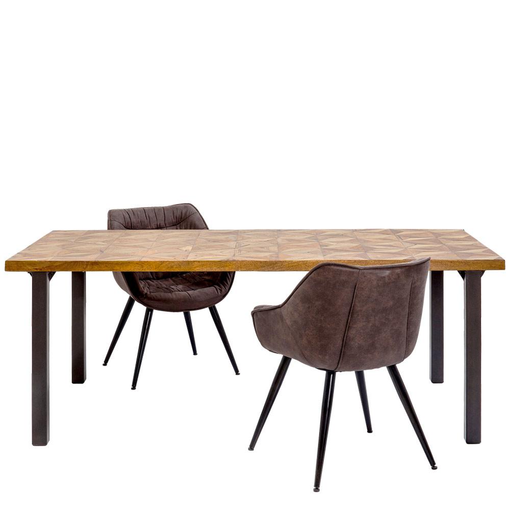 イリュージョンゴールド 200x95cm ダイニングテーブル