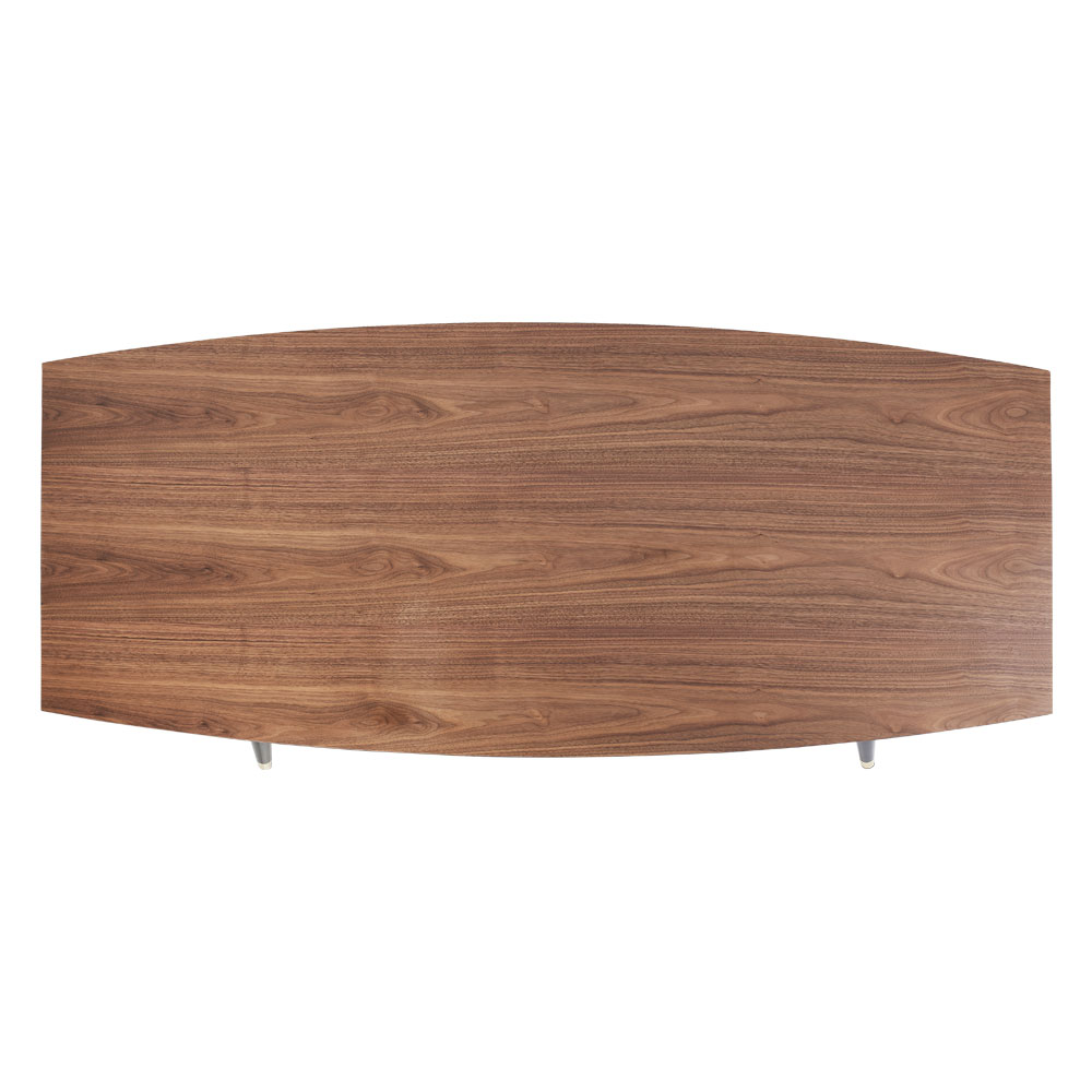 カーブ 180x90cm ダイニングテーブル