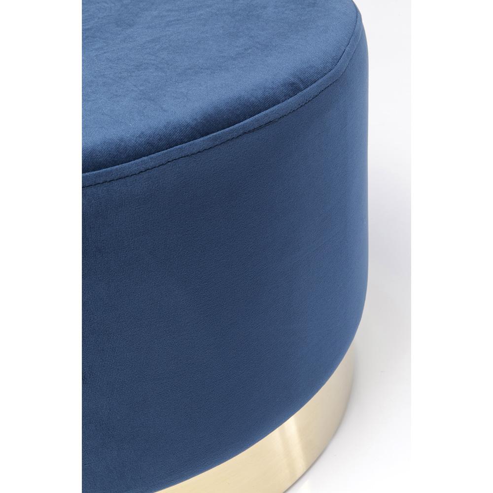 Stool Cherry Blue Brass Ø55cm