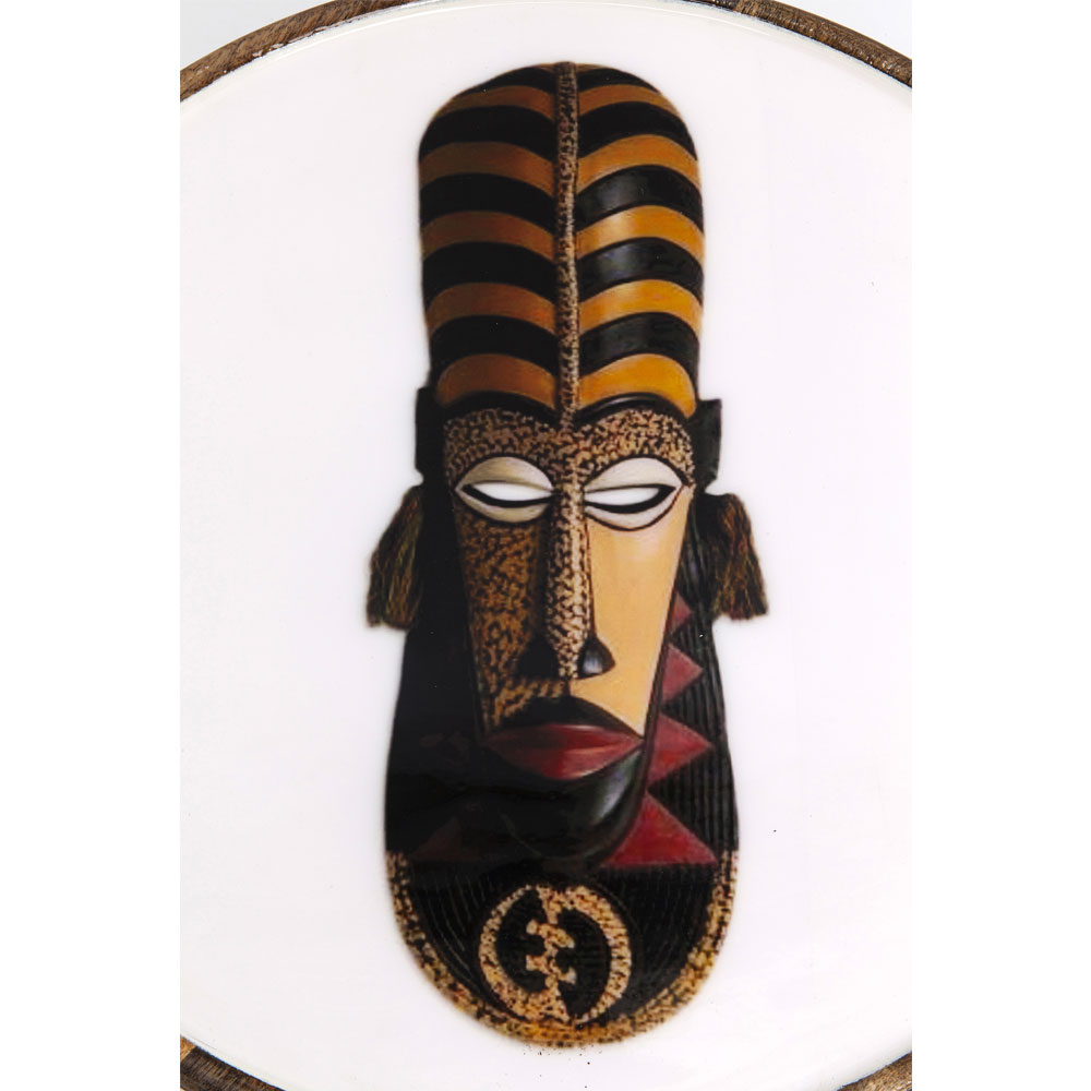 Side Table African Masks (3/Set)