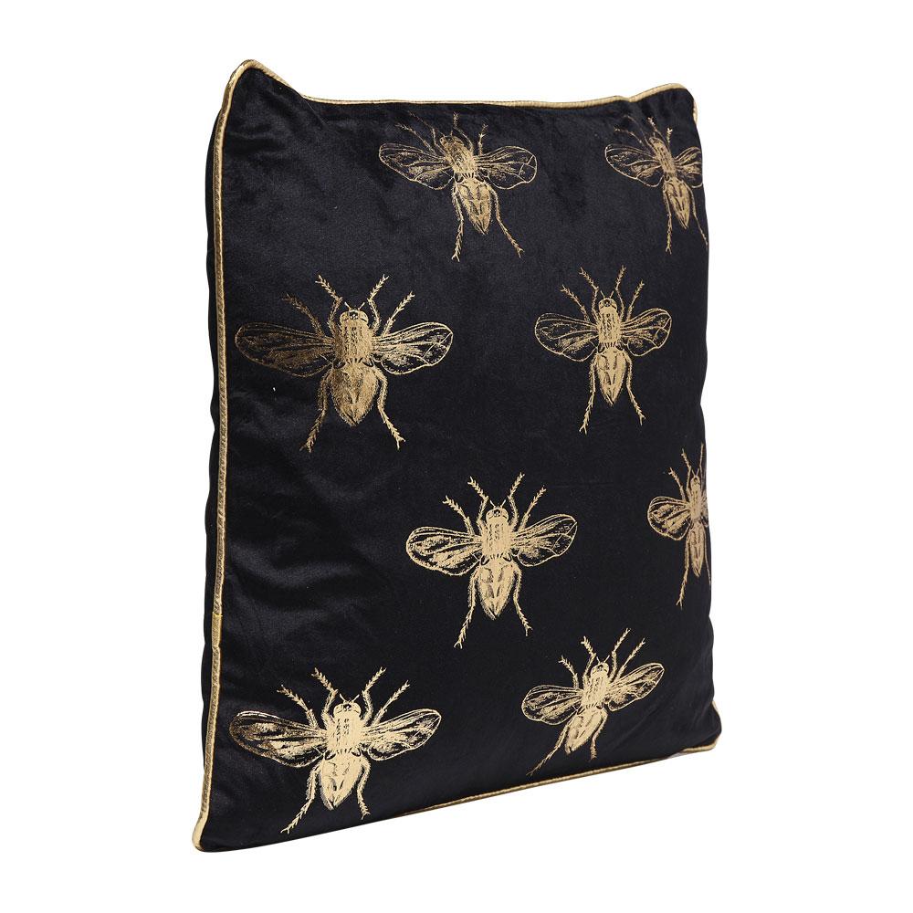 Cushion Bee Black 45x45cm
