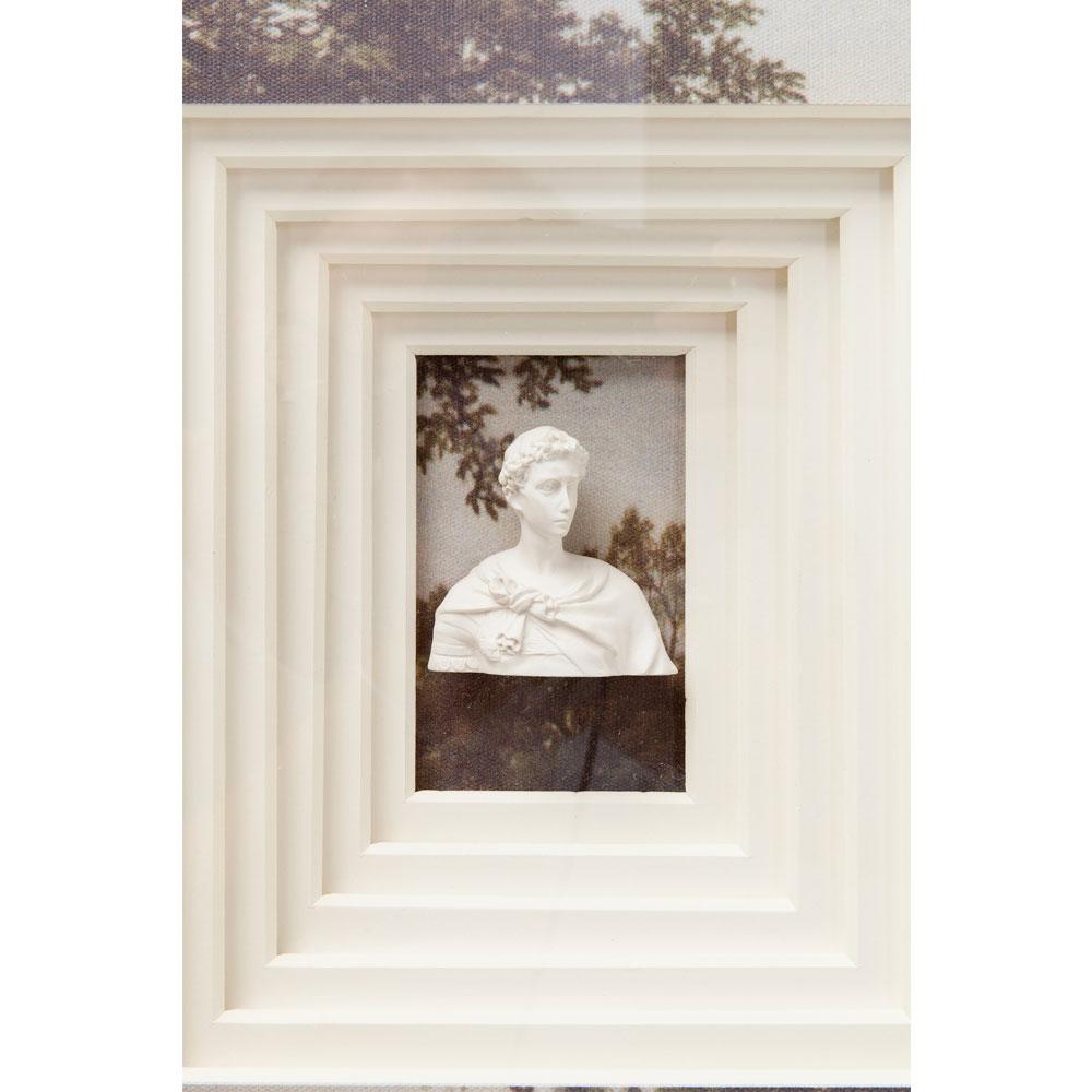 Deco Frame Ancient  Bust Colore 60x45cm