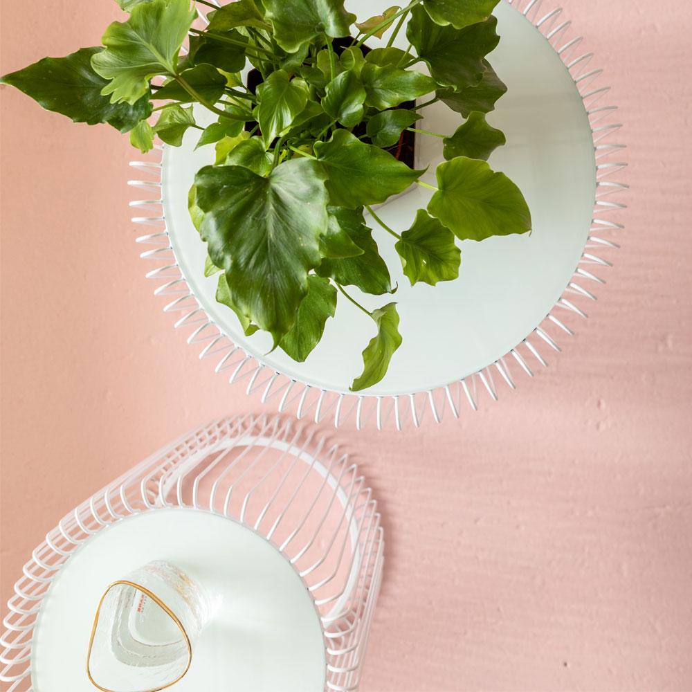 ワイヤーホワイト(2/Set) サイドテーブル