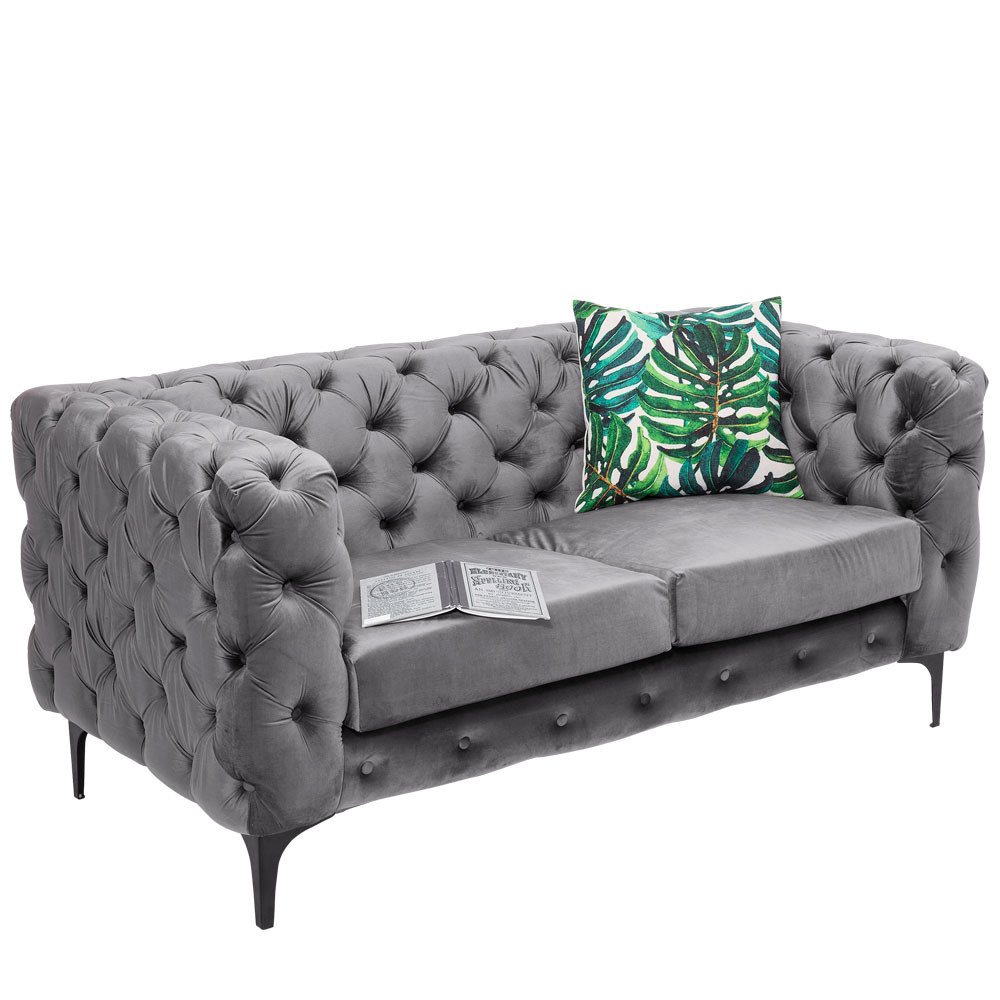 Sofa 2-Seater Two Step Grey