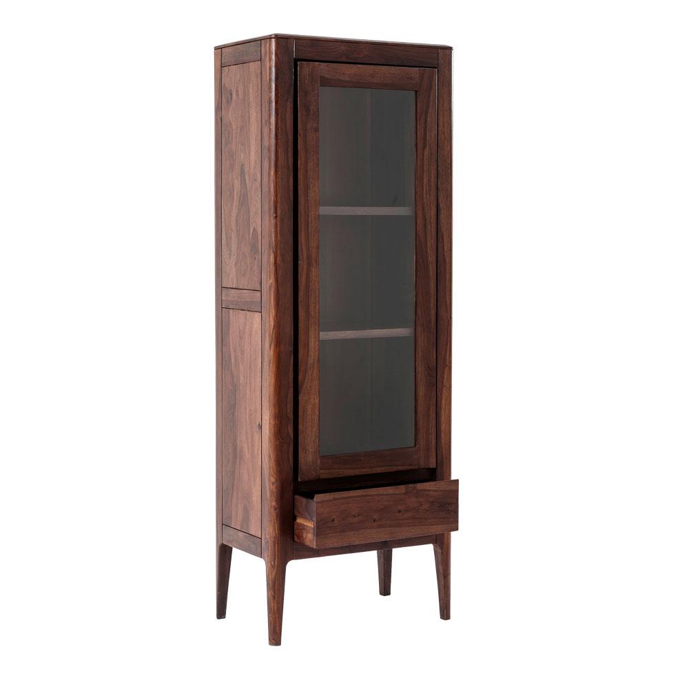 Brooklyn Walnut Display Cabinet 1 Door
