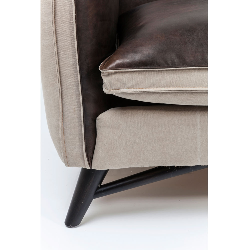 Sofa Fashionista Leather/Canvas 3-Seater