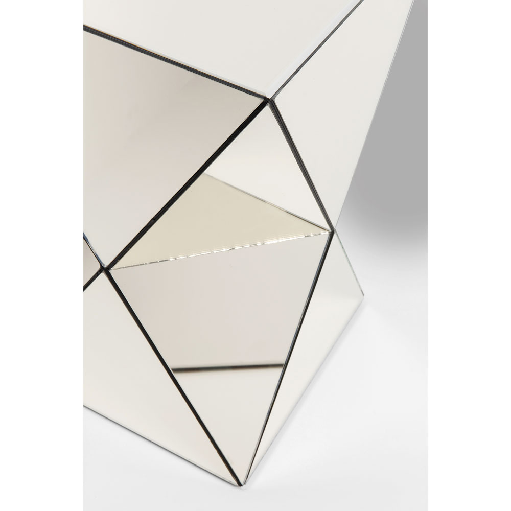 Side Table Luxury Triangle Champagne
