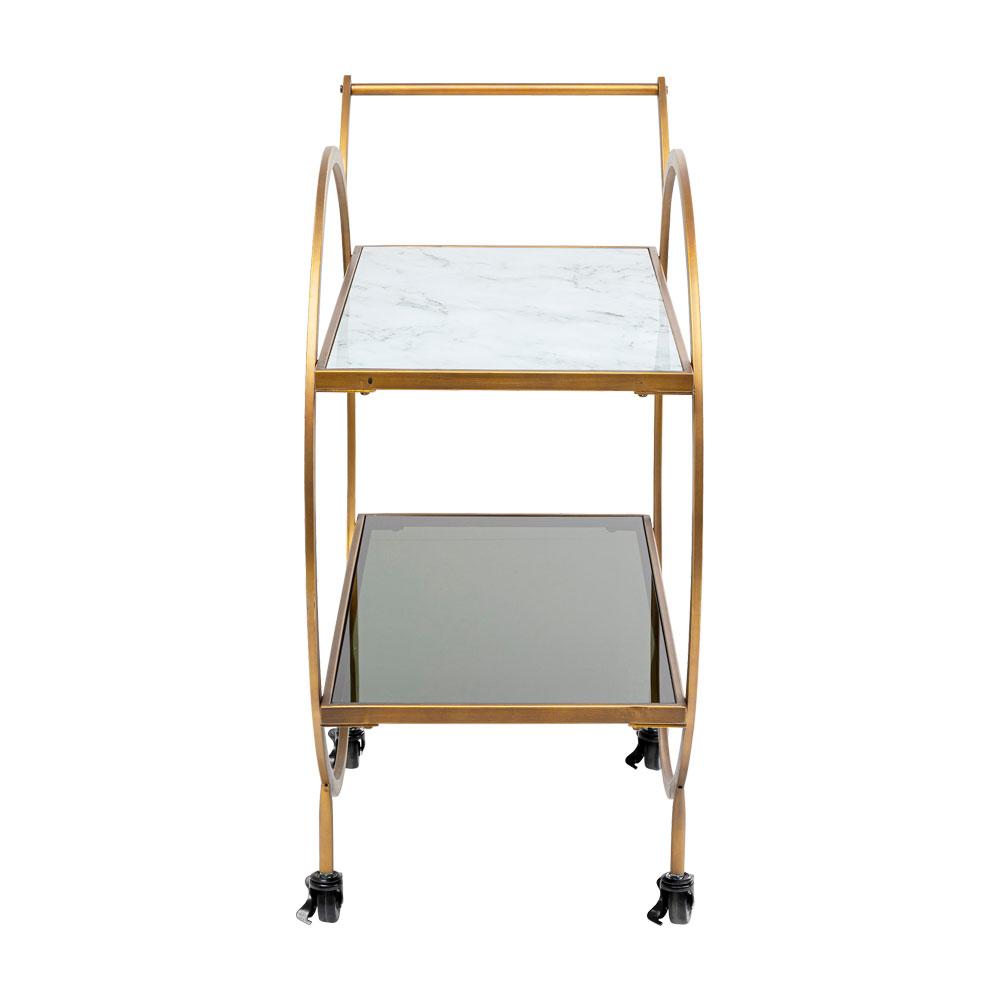 ロフトブラス トレイテーブル/ワゴン