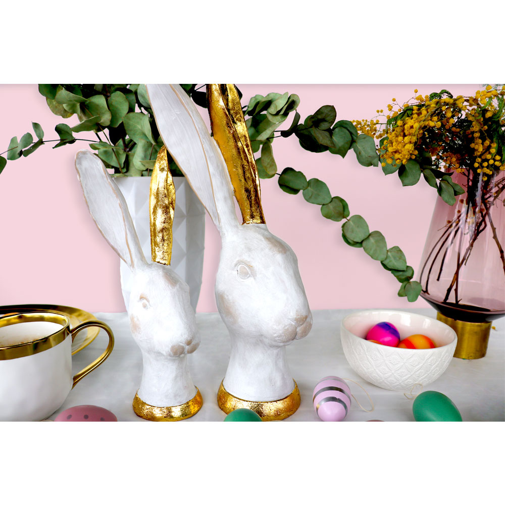 Deco Object Bunny Gold 41cm