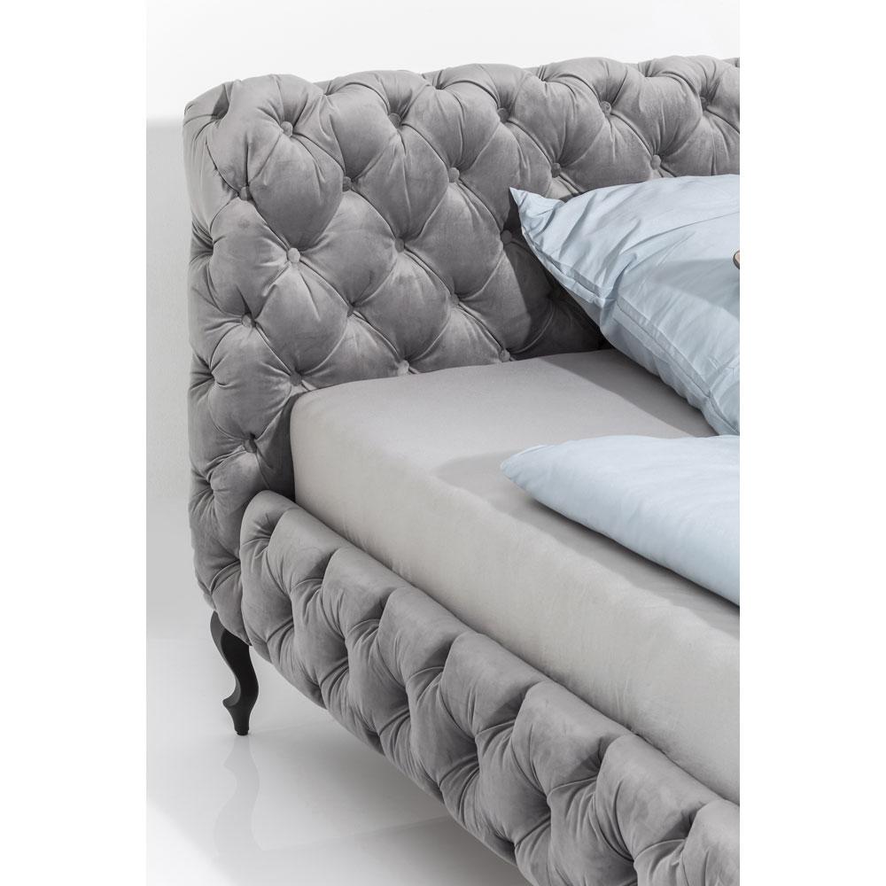 デザイア ベルベット シルバーグレイ ベッド 180×200cm(キングサイズ)