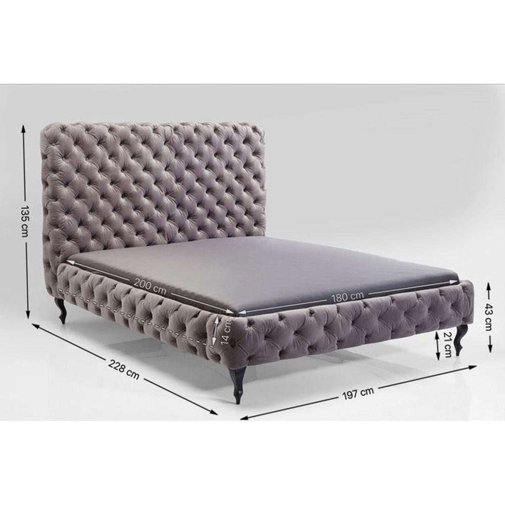 デザイア ハイ シルバーグレイ ベッド 180×200cm(キングサイズ)