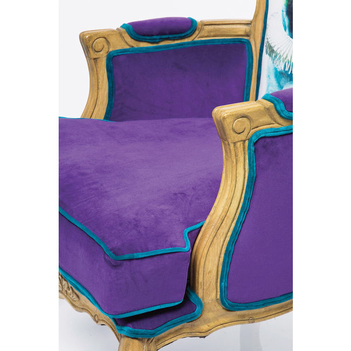Villa Arm Chair Grandfather Mops Purple